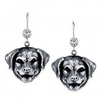 CHESAPEAKE BAY RETRIEVER EARRINGS ER-64  | These earrings are available in all breeds! | Retail Price: $99.95 | 925 Sterling Silver | Each earring has a small bezel set CZ on top of the dog bead. Please note that these earrings can be special ordered in 10k, 14k or 18k gold. Hand-crafted in the USA, Available at ANDREW GALLAGHER JEWELERS, Newark, DE 302-368-3380. We Ship!