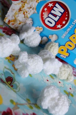 Crocheted popcorn. Med mönster. With patterns