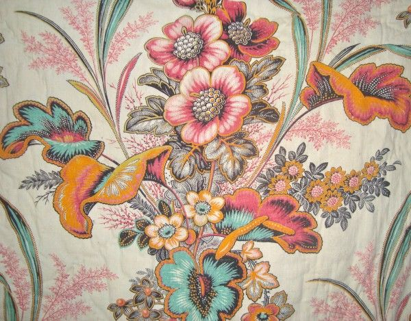 19th century French quilted panel. Love this print. http://morgaine-le-fay.co.uk/wp-content/uploads/2012/02/DSC07722-e1329227147751.jpg