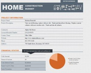 Home Renovation Budget Template - Excel has renovation planner templates too