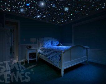 Glow in the dark stars room idea DIY Star Ceiling by StarScenes