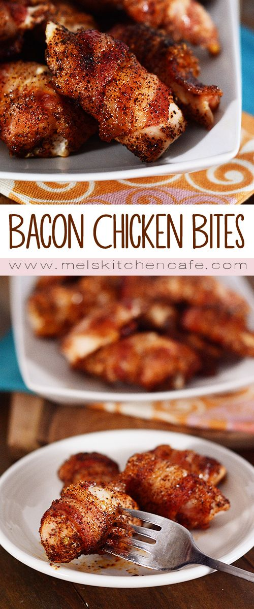 These bacon-wrapped chicken bites are perfect anytime, anywhere you want to serve them.