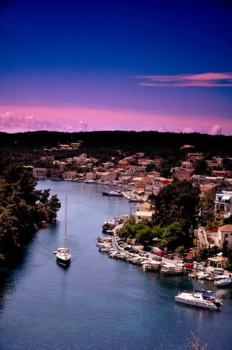 Gaios Sunrise, Paxoi, Greece. The colors, the water, the architecture, I love…