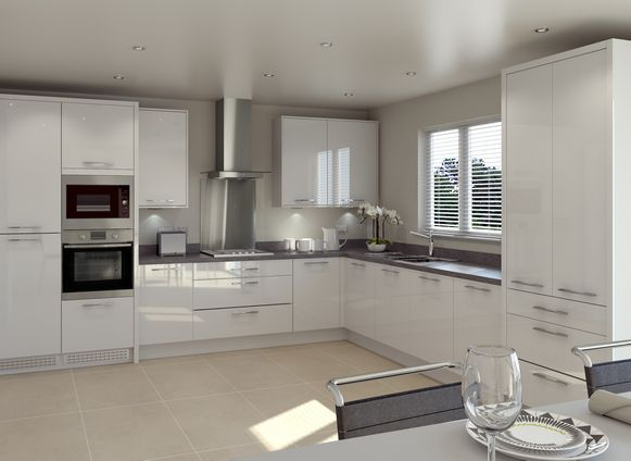 Symphony Kitchen In Woodbury Cashmere Grey Ivory With Luce ...