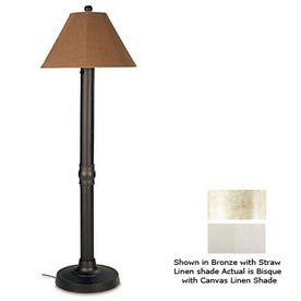 Outdoor Floor Lamps For Patio | ... Patio Living Concepts 60 In H Bisque