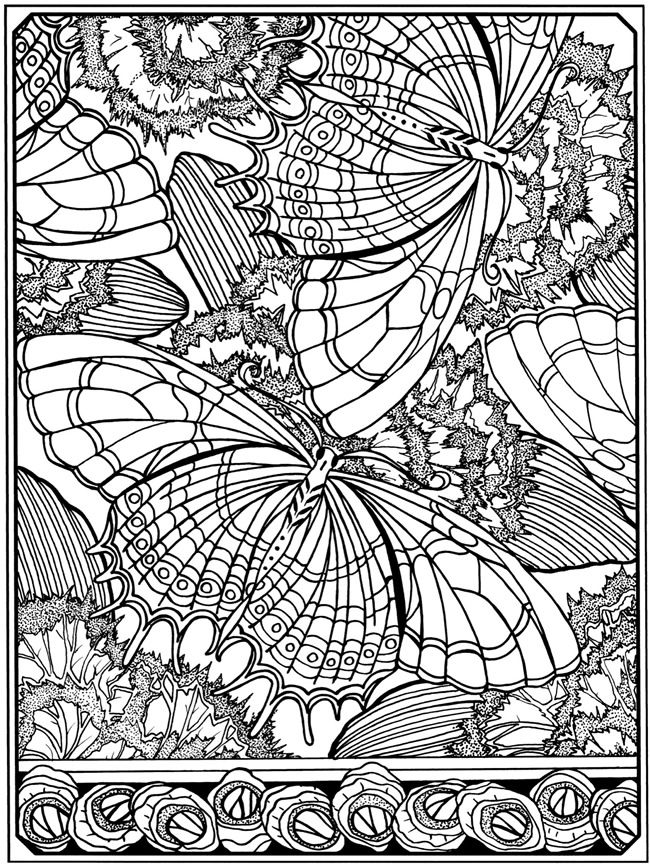 Creative Haven Art Deco Designs Coloring Book Dover Publications Butterflies