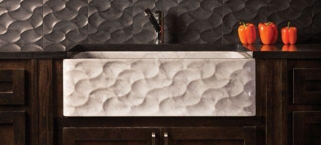 Zlewozmywak z marmuru Carrara