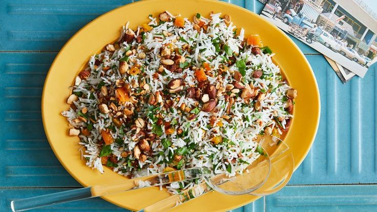 Greek Rice with Parsley, Almonds, and Apricots Recipe | Bon Appetit