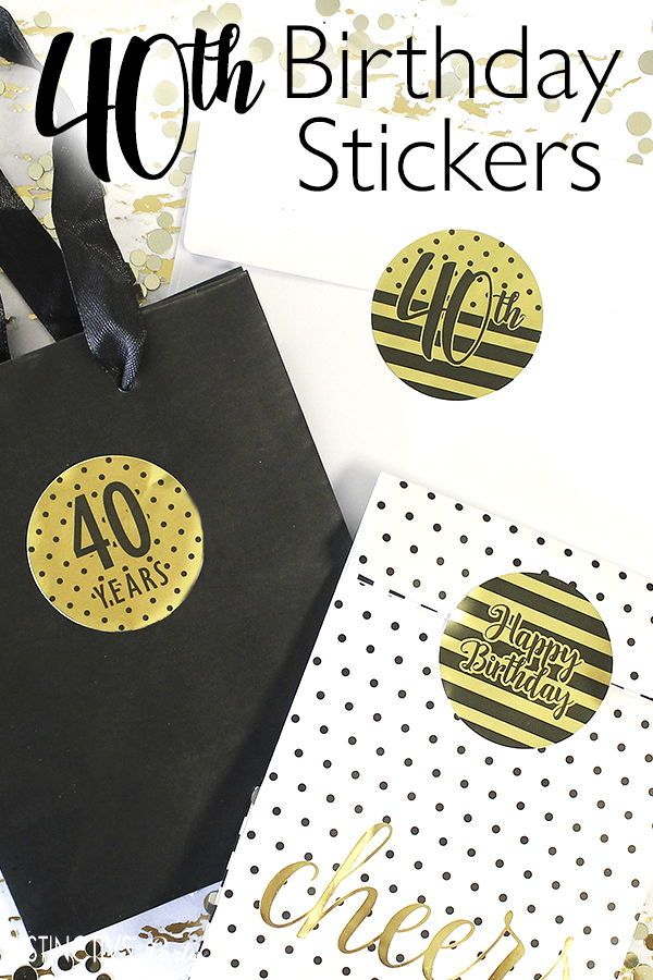 40 Count Shiny Foil Birthday Decorations Black and Gold 60th Happy Birthday Party Favor Bag Labels 60th Birthday Envelope Stickers