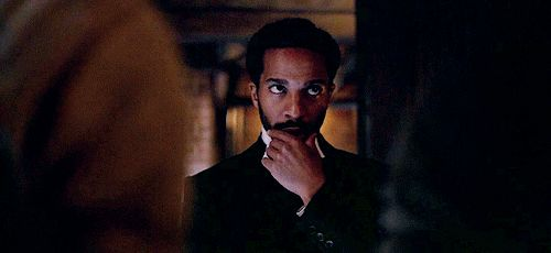 Pin for Later: 20 Photos That Prove Andre Holland Looks Hot in Any Historical Era Algernon makes skeptical beard-stroking look super hot.