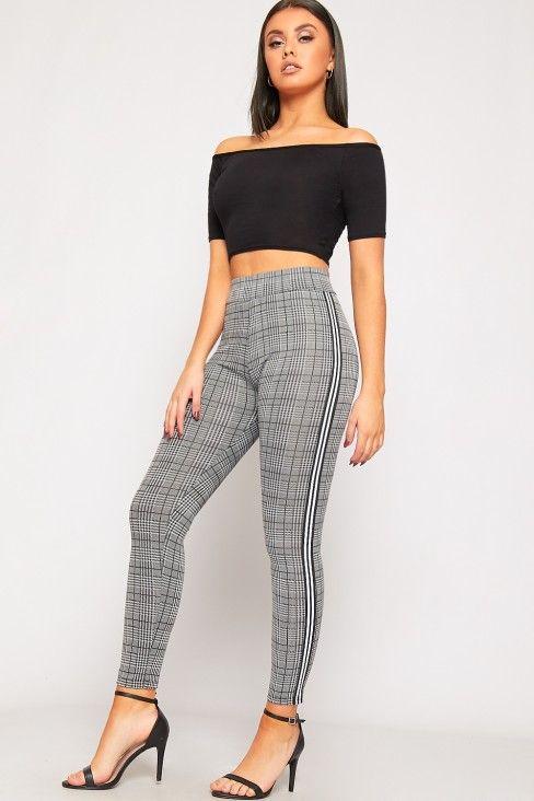 Alejandra Net A Style Leggings Porter Side Striped Checked Multi rqX6pHr