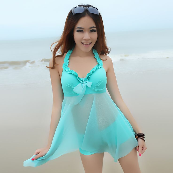 12,60 euro incl shipping 2013 Women Swimsuit tankini for women Split dress female Sexy Summer lady bathing suits beach wear push up Set 2 swimwear L~XXL-inTankinis S...