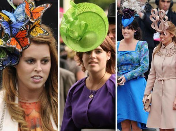 Prinzessin Eugenie und Prinzessin Beatrice von York fallen durch ihre Kleidung und ihre aufwändigen Hutkreationen auf. Hier kommen die Top of the Flops ihrer Outfits.