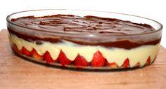 Bombom aberto de morango - ingredientes: 2 caixas morango = p/ o brigadeiro branco: 1 lata de leite condensado, 2 colheres de sopa de margarina - p/ a cobertura: 1 lata de creme de leite, 200 gramas de chocolate ao leite
