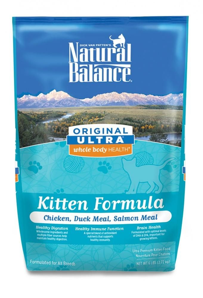 Natural Balance Original Ultra Whole Body Health Chicken Duck Meal Salmon Meal Kitten Formula Dry Cat Food