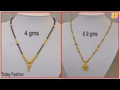 Gold Chain Designs For Ladies In 10 Gram Youtube Gold Mangalsutra 1 Gram Gold Jewellery Gold Jewellery Design Necklaces