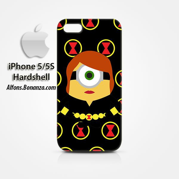 Black Widow Minion iPhone 5 5s Hardshell Case