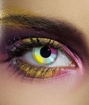 Share CoolGlow with you Friends and Receive 5% on your order.  Novelty Contact Lenses - Rainbow Multicolor - Glow Sticks, Glow Necklaces, Glow Bracelets, Wholesale Cheap Glow Sticks #http://pinterest.com/coolglow/