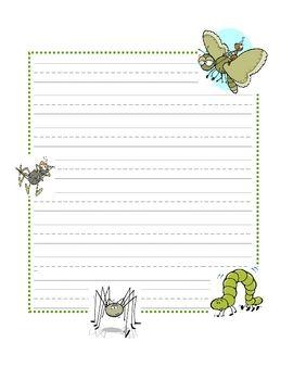 Printable spring writing paper