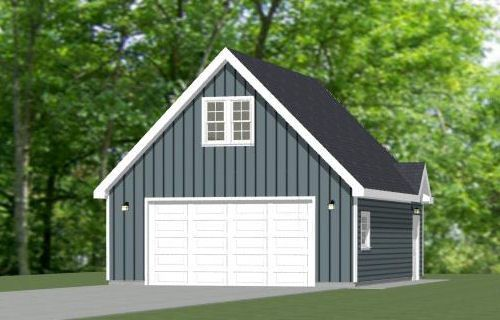 24x30 2 Car Garage 24x30g11h 1 123 Sq Ft Excellent Floor Plans Garage Plans Shed