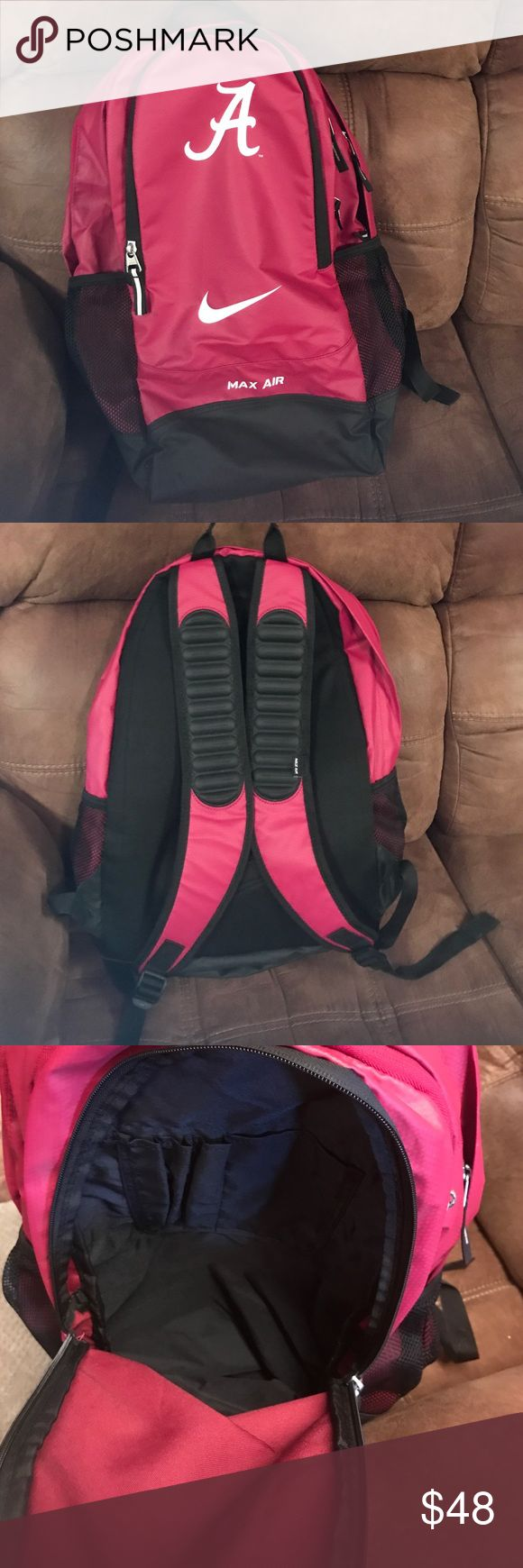 Nike Air Max Backpack Alabama Nike Air Max backpack.  NWOT.  My son received as a gift and never used.  Item#B101. Nike Bags Backpacks