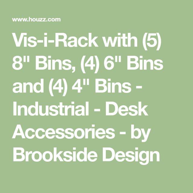 "Vis-i-Rack with (5) 8"" Bins, (4) 6"" Bins and (4) 4"" Bins - Industrial - Desk Accessories - by Brookside Design"