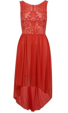 Red lace dress for your Christmas celebrations.
