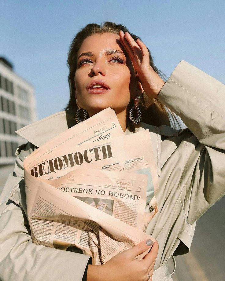 editorial photopsia photoshoot newspaper vibes lady worked