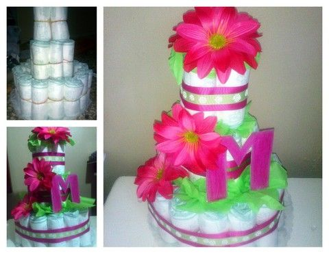 Girly Diaper cake