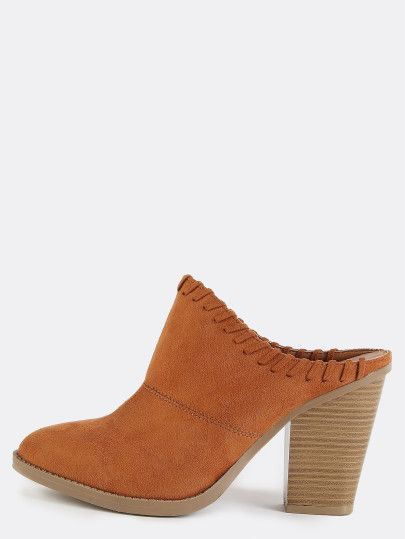Shop Pointed Toe Stitched Chunky Heel Mules WHISKY online. SheIn offers Pointed Toe Stitched Chunky Heel Mules WHISKY & more to fit your fashionable needs.