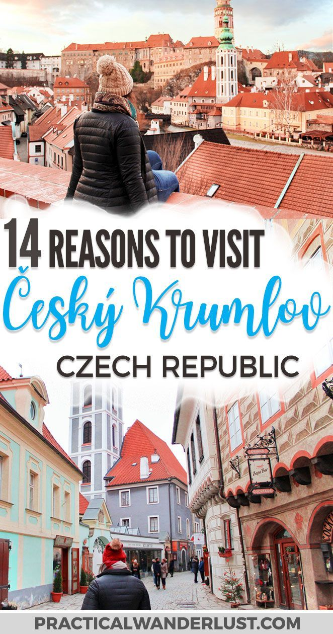 Český Krumlov is a medieval town & UNESCO World Heritage site located in the Bohemia region of the Czech Republic. There's so much to discover in this gorgeous fairytale village (including a beautiful castle)! Here's 14 reasons why it's well worth it to take a trip to Český Krumlov from Prague this winter - and everything you need to know for your visit. Czech Republic | Czech Republic Travel | Europe travel | Bohemia | Europe travel destinations  #Europe #Travel  via @practicalw