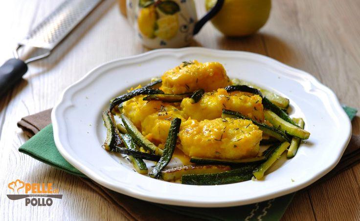 Coda di rospo allo zafferano con zucchine