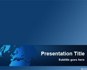 Free PowerPoint Template (Global Software) for software presentations.