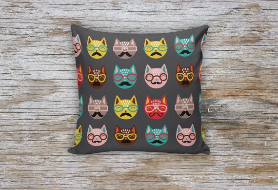 Cats Patterned Decorative Pillows