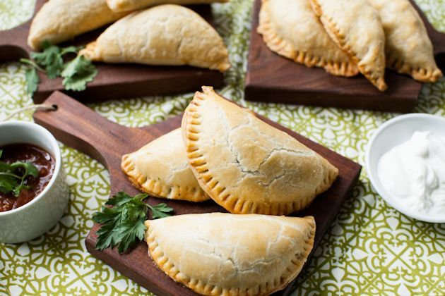 Savory Hand Pies Recipes:  Beef Taco, Chicken, Kalamata Olive and Feta Cheese, and Spring Vegetable Pot Hand Pies.