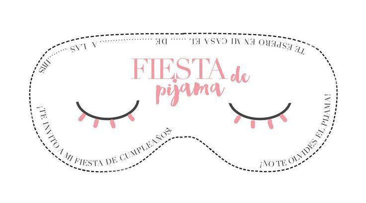 Invitación de Fiesta de Pijama Descargable - claraBmartin