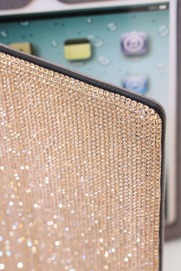 Porta Ipad con swarovski oro MD fashion