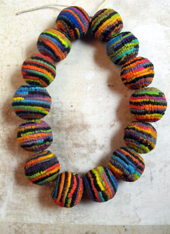 7 Colorful Artisan Statement Beads by MargitBoehmer on Etsy, $25.00