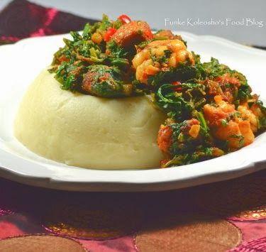 Pounded Yam with Turkey & Prawns Efo Riro #shikenan #africanshop #nigerian…