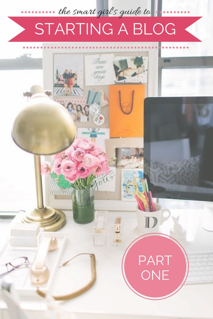 The Smart Girl's Guide to Starting a Blog: Part One {This post series breaks down EVERYTHING you need to know to start your own blog and make it a success! Must-pin for any girls out there that want to blog but don't know how to get started, or struggling bloggers that just need some tips to grow!}