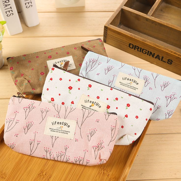 Cute Kawaii Floral Flower Canvas Zipper Pencil Cases Lovely Fabric Flower Tree Pen Bags School Supplies Free Shipping-in Pencil Cases from Office & School Supplies on Aliexpress.com | Alibaba Group