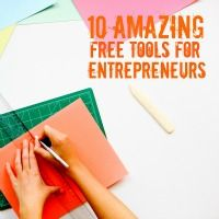 I love, love, love free stuff. So there's no surprise that I absolutely love these free tools for entrepreneurs. Who wouldn't?