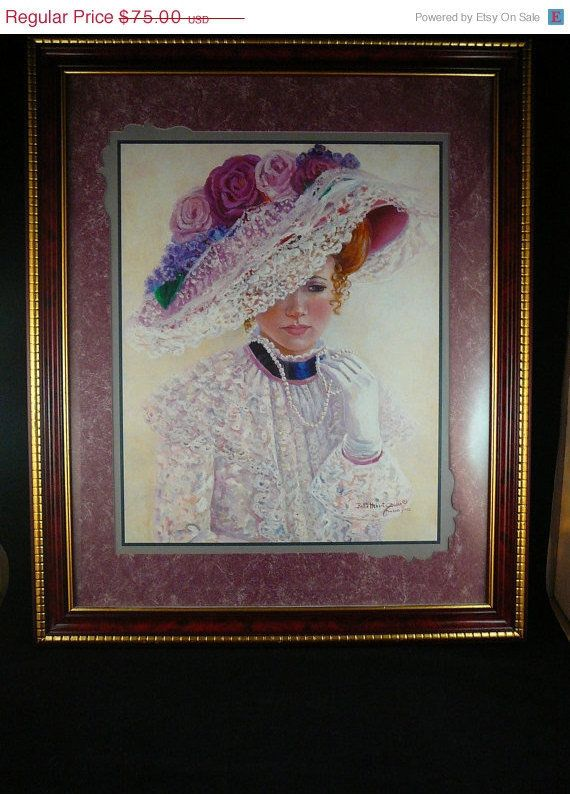 Home Interiors Victorian Lady Painted By Bettie Hebert