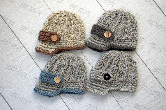 Baby newsboy hat, baby boy hat, newborn boy hat, newborn boy photo prop, baby boy coming home outfit, baby boy clothes, infant boy, crochet