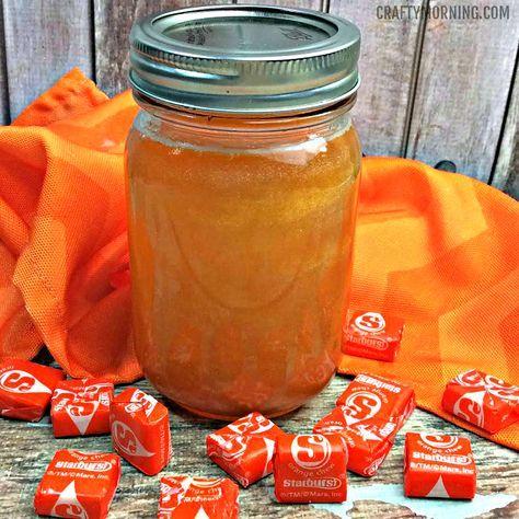 Ingredients: 14 Orange starburst, unwrapped 1 large mason jar 1 bottle of everclear 141 ABV 1 mason jar 1 tsp orange extract 1/3 tube of edible pearl dust Directions: Add the starburst into the mason jar Fill the mason jar up to the next with the everclear Let sit for 2-3 days, randomly shaking the …