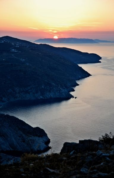 Sunset from Chora. Folegandros island, Greece - selected by www.oiamansion.com