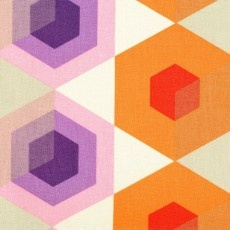 Prints CharmingCushions 275, Charms Fabrics, Charms Kaleidoscopes, Prints Charms, Hexagons Orange, Contemporary Quilt, Harpers Quilt, Kelani Fabrics, Fabrics Design