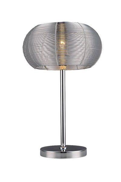 Modern és spot lámpák : Meda asztali lámpa E27, 60W ezüst,