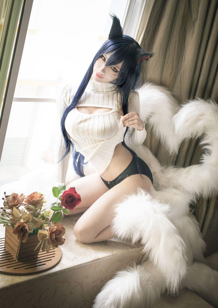 Lengue of Legends ahri sweater - Hane Ame(Hane Ame) Ahri Cosplay Photo - WorldCosplay
