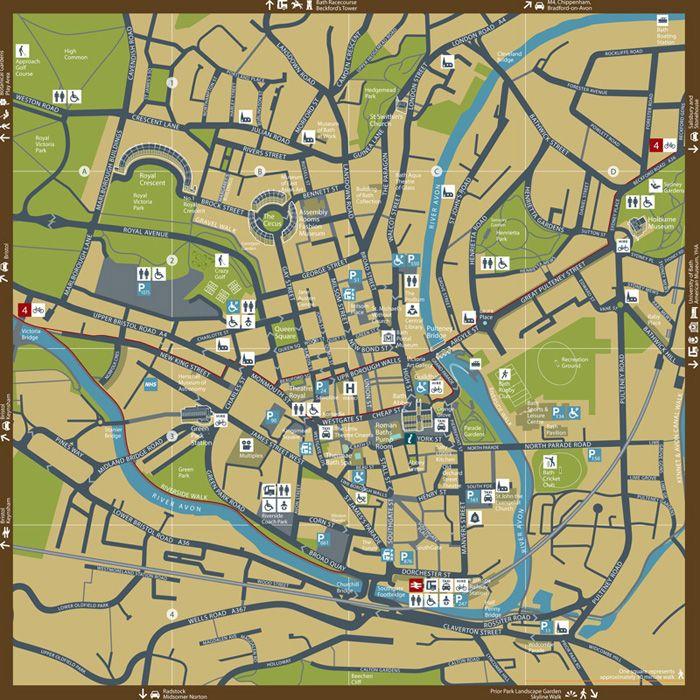 Bath City Centre Map
